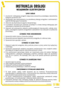 Instrukcja obsługi wciągników elektrycznych - IAG01