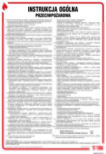 Instrukcja ogólna przeciwpożarowa - instrukcja ppoż - DB001