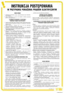 Instrukcja postępowania w  przypadku porażenia prądem elektrycznym - IAA04