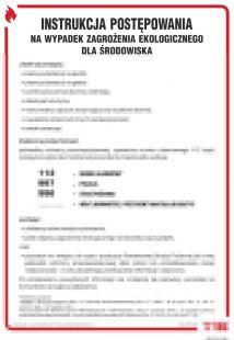 Instrukcja postępowania w razie zagrożeń ekologicznych - instrukcja ppoż - DB019