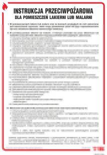 Instrukcja przeciwpożarowa dla lakierni (malarni) - instrukcja ppoż - DB013