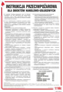 Instrukcja przeciwpożarowa dla obiektów handlowo-usługowych - instrukcja ppoż - DB014