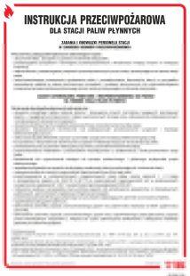 Instrukcja przeciwpożarowa dla stacji paliw płynnych - instrukcja ppoż - DB006