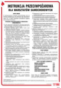 Instrukcja przeciwpożarowa dla warsztatów samochodowych - instrukcja ppoż - DB027