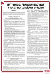 Instrukcja przeciwpożarowa w magazynach zagrożonych wybuchem - instrukcja ppoż - DB025