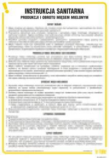 Instrukcja sanitarna produkcji i obrotu mięsem mielonym - IAO34