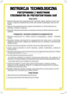 Instrukcja technologiczna postępowania z warzywami stosowanymi do przygotowywania dań - IAO56