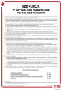 Instrukcja wykonywania prac niebezpiecznych pożarowo - instrukcja ppoż - DB009