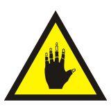JA002 - Ostrzeżenie przed substancjami żrącymi - znak bezpieczeństwa, ostrzegający - Ostrzegawcze znaki BHP a zagrożenia w miejscu pracy