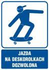 Jazda na deskorolkach dozwolona - znak informacyjny - RB023
