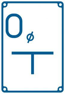 JB005 - Tablica orientacyjna dla odpowietrznika - znak bezpieczeństwa, informujący, wodociągi