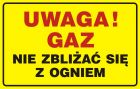 JD013 - Uwaga! Gaz - nie zbliżać się z ogniem