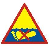Kamieniste dno - znak, kąpieliska - OH008 - Regulamin kąpieliska