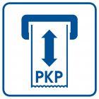 Kasownik biletów PKP - znak informacyjny - RA053