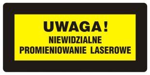 KB004 - Uwaga! Niewidzialne promieniowanie laserowe - znak bezpieczeństwa, ostrzegający, laser