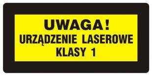 KB006 - Uwaga! Promieniowanie laserowe. Urządzenie laserowe klasy 1 - znak bezpieczeństwa, ostrzegający, laser