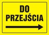 Kierunek do przejścia - znak, tablica budowlana - OA089 - Jaka tablica informacyjna na budowę?