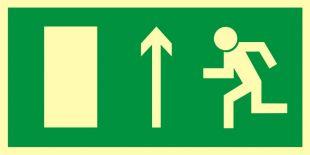 Kierunek do wyjścia drogi ewakuacyjnej w górę