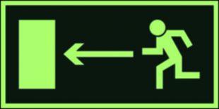 Kierunek do wyjścia drogi ewakuacyjnej w lewo - znak ewakuacyjny - AA003