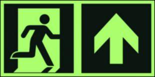 Kierunek do wyjścia ewakuacyjnego – w górę (prawostronny) - znak ewakuacyjny - AAE105