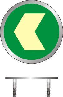 Kierunek drogi ewakuacyjnej - znacznik podłogowy do konstrukcji ażurowych - znak ewakuacyjny - AC216