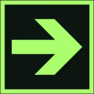 Kierunek drogi ewakuacyjnej - znak morski - FB064