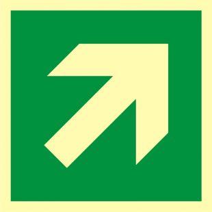 Kierunek drogi ewakuacyjnej - znak morski - FB065