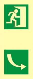 Kierunek otwarcia drzwi - znak ewakuacyjny - AC215