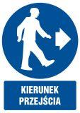 Kierunek przejścia - znak bhp nakazujący, informujący - GL023 - Urządzenia BRD do zabezpieczania robót drogowych