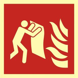 Koc gaśniczy - znak przeciwpożarowy ppoż - BAF016