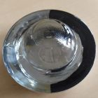 Kocie oczko - najezdniowy, punktowy element odblaskowy - szklany, wpuszczany - LUX 3 10cm biało/czarny