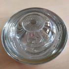 Kocie oczko - najezdniowy, punktowy element odblaskowy - szklany, wpuszczany - LUX 3 10cm biały