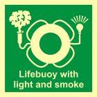 Koło ratunkowe z bojką świetlno-dymną - znak morski - FB011