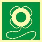 Koło ratunkowe z linką - znak morski - FB042