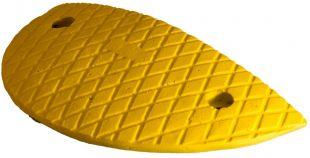 Kompletny próg podrzutowy zwalniający, drogowy 5cm - U-17 PW-P - żółty