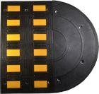 Kompletny próg zwalniający drogowy liniowy D5 Standard - odblaskowy gumowy 5cm U-16