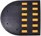 Kompletny próg zwalniający drogowy - liniowy, listwowy D7 - odblaskowy gumowy 7cm U-16