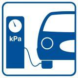 Kompresor - znak stacje benzynowe - SB008 - Stacja benzynowa – jak powinna być oznaczona?