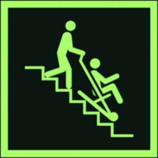 Krzesło ewakuacyjne - znak ewakuacyjny - AAE060