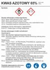 Kwas azotowy 65% - etykieta, oznakowanie opakowania