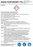 Kwas fosforowy 75% - etykieta chemiczna, oznakowanie opakowania - LC006 - Praca przy materiałach niebezpiecznych