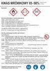 Kwas mrówkowy 85-98% - etykieta chemiczna, oznakowanie opakowania - LC007