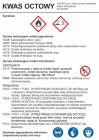 Kwas octowy - etykieta, oznakowanie opakowania