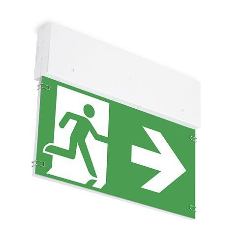 Lampa oprawa awaryjna - wskazująca kierunek ewakuacji ONTEC G - Tablice informacyjne – minimalne ogólne wymagania