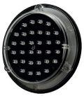 Lampa ostrzegawcza drogowa, panel LED 10 cm - błysk standardowy