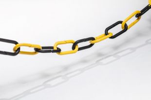 Łańcuch odgradzający, czarno-żółty, plastikowy 1m