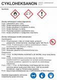 LC001 - Cykloheksanon - etykieta chemiczna, oznakowanie opakowania - Obrót wyrobami pirotechnicznymi – obowiązki pracodawcy