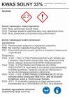 LC002 - Kwas solny 33% - etykieta, oznakowanie opakowania