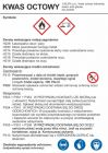 LC005 - Kwas octowy - etykieta, oznakowanie opakowania
