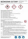 LC011 - Bezwodnik octowy - etykieta chemiczna, oznakowanie opakowania - Etykiety CLP – transport materiałów niebezpiecznych